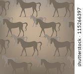 brown horse pattern | Shutterstock .eps vector #115266397