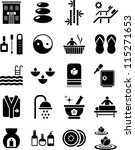 spa icons | Shutterstock .eps vector #115271653