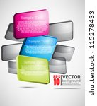 eps10 vector abstract glossy... | Shutterstock .eps vector #115278433