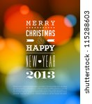 merry christmas and happy new... | Shutterstock .eps vector #115288603
