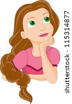 portrait of a girl | Shutterstock .eps vector #115314877