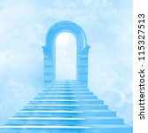 the stairway to heaven leading... | Shutterstock . vector #115327513