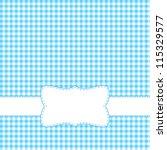 blue retro frame. | Shutterstock .eps vector #115329577