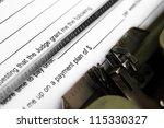 payment plan form | Shutterstock . vector #115330327