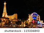 Stock photo las vegas mar paris las vegas hotel and casino sign in the shape of the montgolfier balloon 115336843