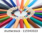 color pencils   Shutterstock . vector #115343323