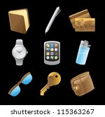 icons for personal belongings....   Shutterstock .eps vector #115363267