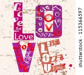 Love Concept With Word Letter ...