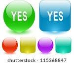 yes. interface element. raster... | Shutterstock . vector #115368847