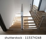 Stairs in modern house - stock photo