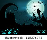halloween night background. eps ... | Shutterstock .eps vector #115376743
