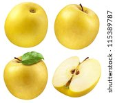 Yellow Apple. Collection. Set...