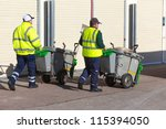 BRIGHTON, UK - FEBRUARY 8, 2011: Street cleaners on seafront on February 8, 2011 in Brighton, UK. Brighton & Hove have over 650 miles of pavement. - stock photo