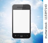 Mobile Phone On Blue Sky...