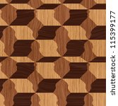 abstract decorative wooden... | Shutterstock .eps vector #115399177