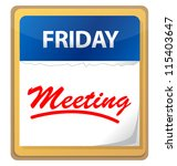 calendar meeting illustration... | Shutterstock . vector #115403647