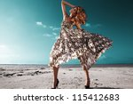 salty desert | Shutterstock . vector #115412683