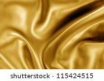 3d image of gold fabric texture - stock photo
