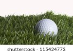 golf ball in the rough | Shutterstock . vector #115424773