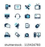 communication icons     azure... | Shutterstock .eps vector #115426783