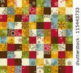 cute seamless christmas pattern ... | Shutterstock .eps vector #115443733