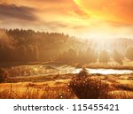 autumn landscapes - stock photo