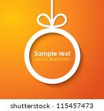 christmas applique background.... | Shutterstock .eps vector #115457473