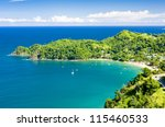 Castara Bay, Tobago - stock photo