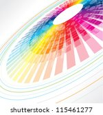 colorful abstract wheel | Shutterstock .eps vector #115461277