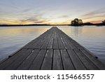 Autumn Lake Scenery At Sunrise