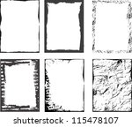 grunge textures set. background.... | Shutterstock .eps vector #115478107