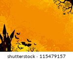 halloween background. vector... | Shutterstock .eps vector #115479157