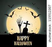 creative halloween vector...   Shutterstock .eps vector #115512307