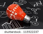 light bulb with business charts | Shutterstock . vector #115522237