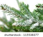 Christmas Tree On White...