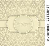 invitation card | Shutterstock .eps vector #115538497