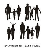 family silhouette isolated over ... | Shutterstock .eps vector #115544287