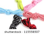 colorful shoelaces isolated on... | Shutterstock . vector #115558507
