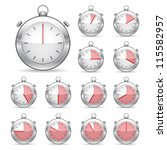 set of silver vector timers | Shutterstock .eps vector #115582957