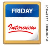 calendar with an interview... | Shutterstock . vector #115594507