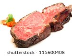 Gourmet Main Entree Course Roasted Wagyu beef steak - stock photo