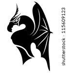 vector. black dragon. | Shutterstock .eps vector #115609123