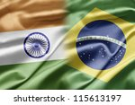 india and brazil | Shutterstock . vector #115613197