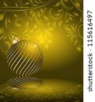 stylized christmas balls on... | Shutterstock .eps vector #115616497
