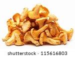 Chanterelles Mushrooms On A...