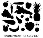 fruits and vegetables | Shutterstock .eps vector #115619137