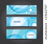 collection blue banners modern... | Shutterstock .eps vector #115622707