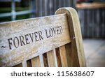 Wooden Memorial Bench With...
