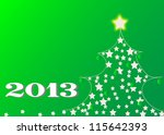 christmas tree made with stars... | Shutterstock .eps vector #115642393