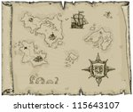 ancient map | Shutterstock .eps vector #115643107